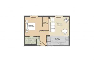 Stafford A 1 bedroom floorplan Eastmont Towers