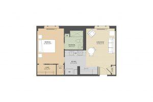 Stafford C 1 bedroom floorplan Eastmont Towers