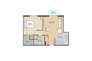 Stafford B 1 bedroom floorplan Eastmont Towers