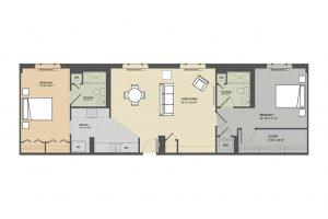 The Kirkwell 2 bedroom floorplan Eastmont Towers