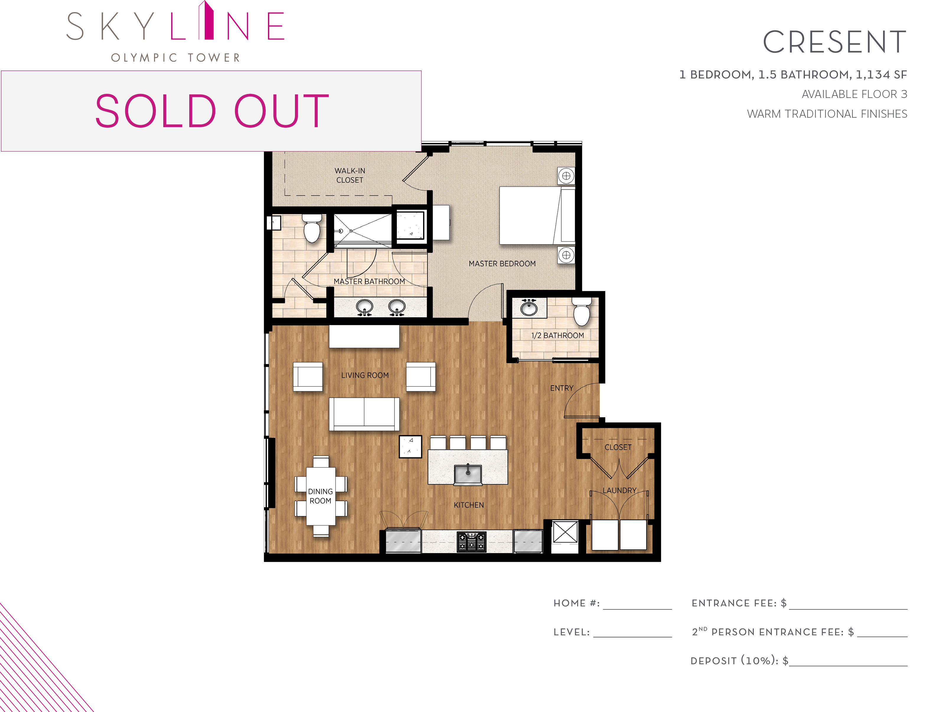 Olympic Tower Floor Plan - Crescent