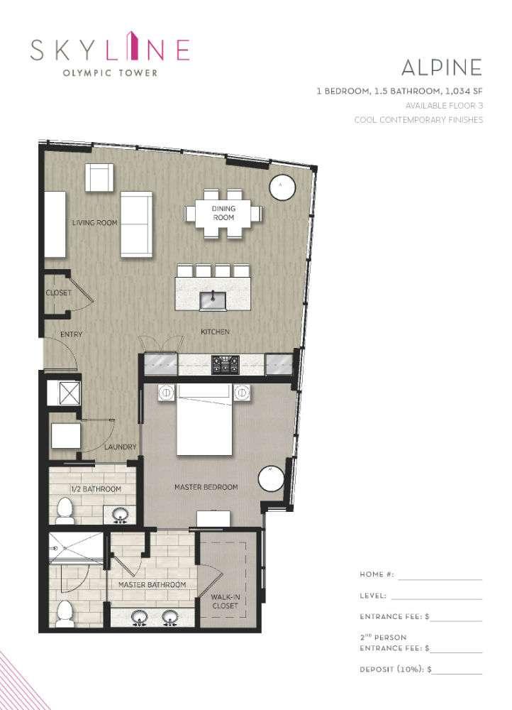 Olympic Tower Floor Plan - Alpine