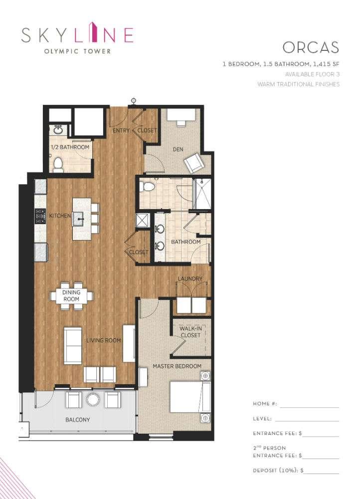 Olympic Tower Floor Plan - Orcas