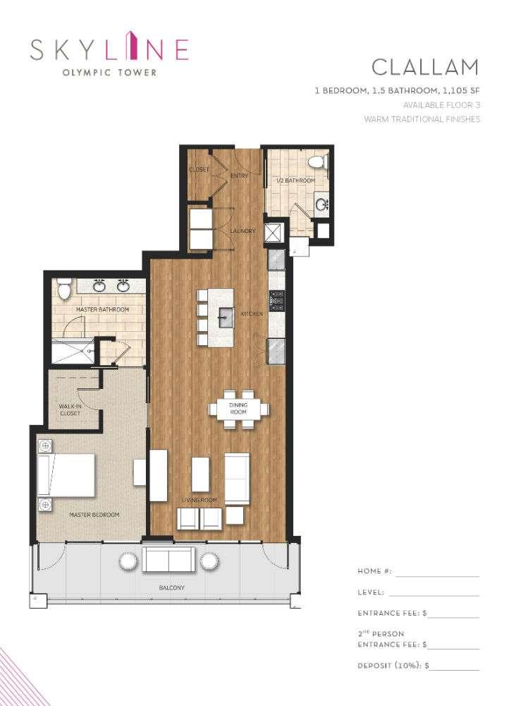 Olympic Tower Floor Plan - Clallam