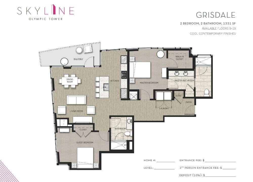 Olympic Tower Floor Plan - Grisdale