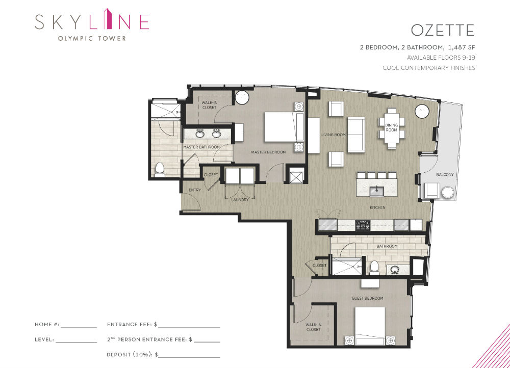 Olympic Tower Floor Plan - Ozette