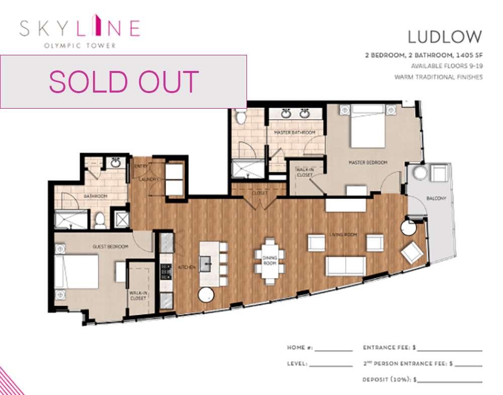 Olympic Tower Floor Plan - Ludlow