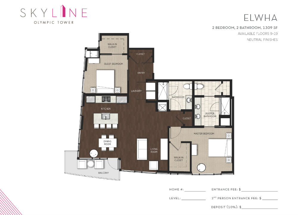 Olympic Tower Floor Plan - Elwha