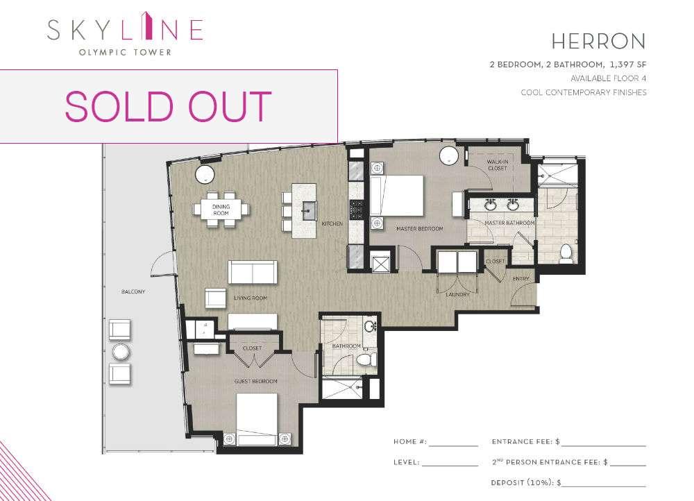 Olympic Tower Floor Plan - Herron